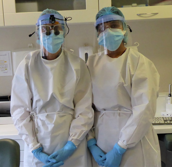 Dentists in PPE