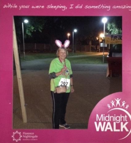 Lesley Lewis, bunny ears, midnight walk